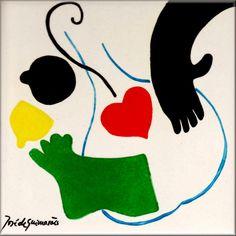 FORTYSA ANTIGUIDADES E COLECIONISMO: AZULEJO JOSÉ DE GUIMARÃES Portugal, Gustav Klimt, Creative Activities, Famous Artists, Superhero Logos, Contemporary Art, Disney Characters, Fictional Characters, Museum
