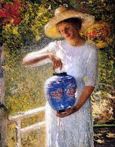 Helen Maria Turner (American artist, 1858 – 1958) Girl With Lantern