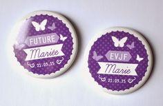 Bulles de Neige, badges personnalisés EVJF / Mariage / Anniversaire: EVJF-EVG