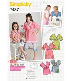 Simplicity Pattern 2437HH-Child Girl Sportswear-Sz 3-6Simplicity Pattern 2437HH-Child Girl Sportswear-Sz 3-6,