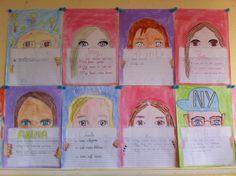 Zelfportret met goede voornemens/doelen voor komend jaar. Groep 6,7,8 Ook leuk idee voor in een tijdschrift. Studenten uitnodigen als redacteur van elk een pagina.