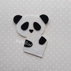 Filcowa Panda | Zakładka narożna z filcu (030)