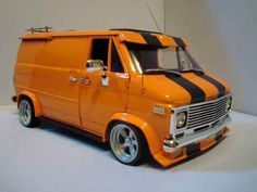 Chevy Vans Models | Chevrolet Van orange Highway 61 1/18