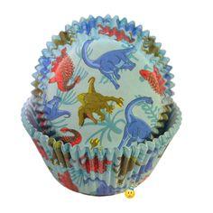Pattern Cupcake Cups - Dinosaurs Print Designer Baking Liners