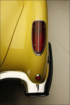 1958 Yellow Corvette