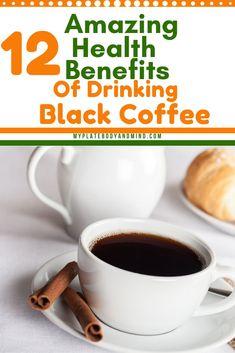 12 Health Benefits Of Drinking Black Coffee – Detox Drinks Fat Burning Keto Bullet Proof Coffee, Bullet Proof Coffee Benefits, Health Benefits Of Coffee, Coffee Coffee, Coffee Drinks, Coffee Beans, Clean Eating, Healthy Eating, Healthy Drinks