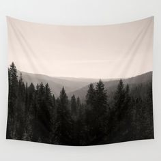 Sepia Forest Tapestry