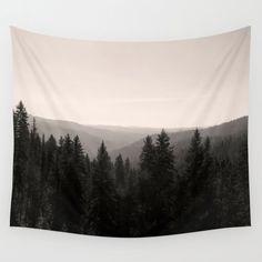 Sepia Baum Gobelin   Foto Gobelin   Wandteppich Wandbehang   Schwarz und weiß-Stickerei   Große Wand-Dekor   Sepia Wandbehang, Wald-Wandbehang