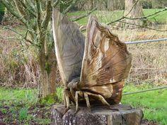 #butterfly #wooden #sculpture