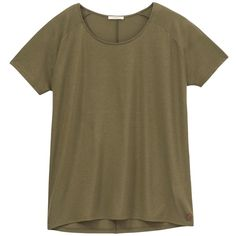 Lee Oversized T-Shirt, Army Green (€18) ❤ liked on Polyvore featuring tops, t-shirts, shirts, tees, olive green shirt, short sleeve tee, short sleeve tops, short sleeve shirts and brown t shirt
