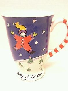 Pfaltzgraff Collectible Hooray For Christmas Large Multicolored Mug 5.5 in