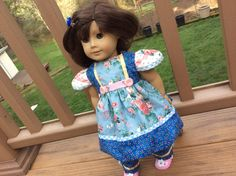 American Girl,   Waldorf doll clothes, artsy, one of a kind, 2 pc by judysdollboutique on Etsy