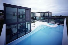Modern House Design  Architecture Exterior - Pool | Modern House Plans Designs