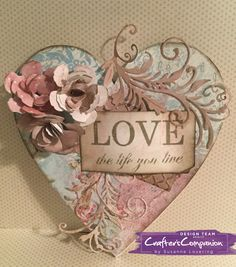 Shabby chic collection by crafters companion. MDF heart plaque. By Susanne lovering