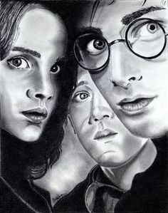 Harry, Ron, and Hermione!