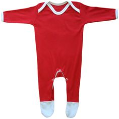 bac01973 - Christmas Red & white Baby Rompasuit 0-3m