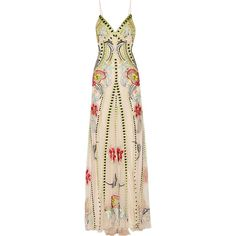 Temperley London Temperley London - Carmelina Embroidered Tulle Gown -... (5.215 BRL) ❤ liked on Polyvore featuring dresses, gowns, vestidos, long dress, beige, long dresses, floral gown, pink tulle gowns, pink evening dress and floral dresses
