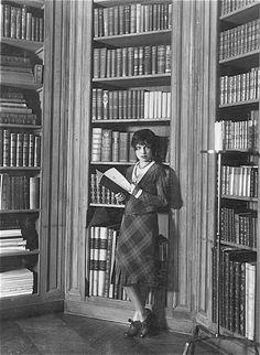 A very scholarly Anita Loos, 1926