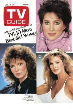 December 15, 1984 Great Tv Shows, Old Tv Shows, 10 Most Beautiful Women, Vintage Barbie Clothes, Valley Girls, Vintage Tv, Tv Guide, Classic Tv, Favorite Tv Shows