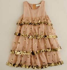 Sandy pink and gold girls dress