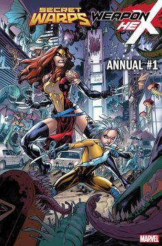 Secret Warps: Weapon Hex Annual cover by Carlos Gomez. Marvel Comic Universe, Marvel Comics Art, Marvel X, Comics Universe, Disney Marvel, Cosmic Comics, Comic Book Pages, Comic Books Art, Book Art