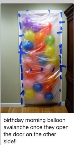Funny pictures about Birthday Morning Balloon Avalanche. Oh, and cool pics about Birthday Morning Balloon Avalanche. Also, Birthday Morning Balloon Avalanche. Birthday Fun, Birthday Parties, Birthday Balloons, Special Birthday, Surprise Birthday, Birthday Door, 21st Birthday Ideas For Girls, Birthday Quotes, Birthday Wishes