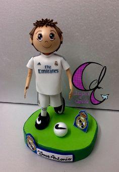 Creaciones el Capricho: Fofucho personalizado del Real Madrid, equipacion 2015 - 2016