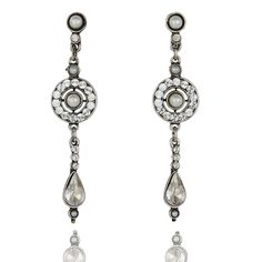 "Peter Lang ""Elise"" pearl and swarovski earrings"