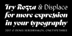 Rozza - Webfont & Desktop font « MyFonts