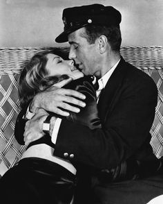 "Humphrey Bogart and Lauren Bacall in ""To Have and Have Not""."
