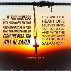 Best Bible Verses, King James Bible Verses, Biblical Verses, God Is Good Quotes, New Testament Books, Romans 10 9, Jesus Is Lord, Jesus Christ, Jesus Today