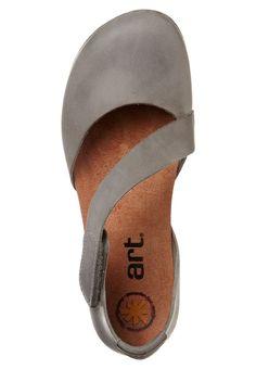 KRETA - Sportieve ballerina - Grijs Fab Shoes, Dream Shoes, Me Too Shoes, Comfortable Fashion, Comfortable Shoes, Strap Sandals, Shoes Sandals, Barefoot Shoes, Leather Accessories