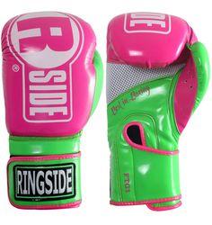 Ringside Apex Womans Boxing Gloves Kickboxing Muay Thai Fitness Bag Gloves Pink #Ringside #shoptheworld