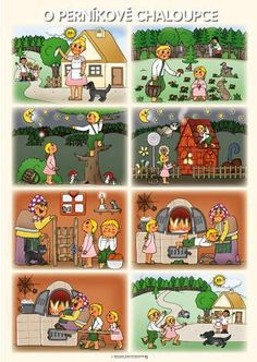 Procvičujme a trénujme s rodiči Sequencing Pictures, Sequencing Cards, Story Sequencing, Sequencing Activities, Speech Therapy Activities, Activities For Kids, Picture Story For Kids, Fairy Tale Activities, Hansel Y Gretel