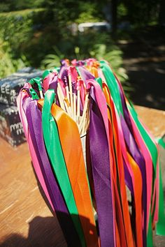 Create nice piccies :-) sticky ribbons