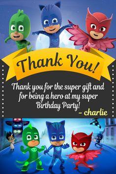 Pj Masks Birthday Invitation Multiple Pj by SergioDesignsShop