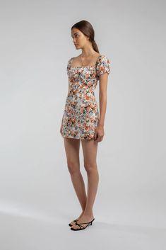 Cruz Dress Floral – Lulu & Rose Rose Dress, Label, Women Wear, Feminine, Floral, Casual, Cotton, Inspiration, Shopping