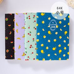 1Pc Kawaii Wood-in Fruit Jar Kraft Paper BLANK Notebook Journal Diary Notepad Vintage Soft Copybook Memos Pads Cute Stationery