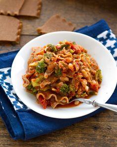 Stovetop Broccoli and White Bean Lasagna
