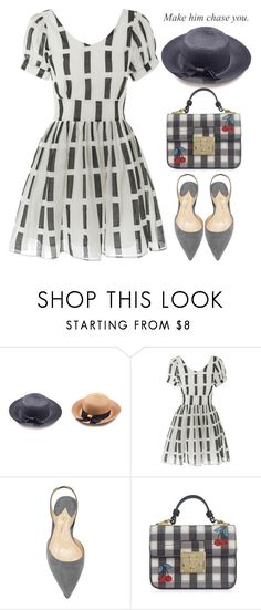 """""""Make him chase you."""" by oliverab ❤ liked on Polyvore featuring white, fashionista, grey and rosegal"""