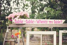 A cute Sign; Table Table Where's my Table!