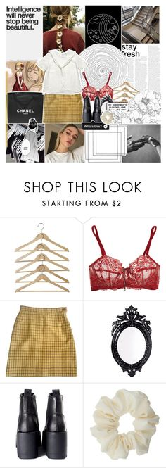 """""""i am historia reiss, the true ruler of these walls."""" by pearliemoon ❤ liked on Polyvore featuring Reiss, Heidi Klum Intimates, Vivienne Westwood, Chanel, Belle Maison, Rival and Miss Selfridge"""
