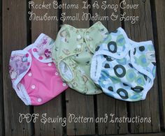 PDF Cloth Diaper Sewing Pattern  Rocket Bottoms by RocketBottoms, $8.00