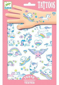 Be the envy of all your friends with these mystical unicorns temporary tattoos from Djeco £3.75 | Birdkids