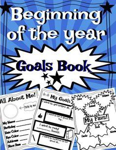 Beginning of the year goal book 2nd Grade Teacher, First Grade Classroom, Primary Classroom, Science Classroom, Classroom Ideas, Social Work Exam, School Social Work, Coaching Skills, Social Skills