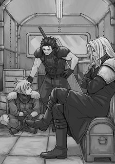 SOLDIER boys Zax,Sephiroth, and Cloud