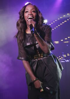 A glowing Estelledoes her thing during a performance on June 25 in Miami