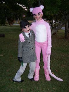 The Pink Panther and Inspector Clouseau Easy Halloween Costume