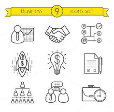 Business icons. Vector by @Graphicsauthor