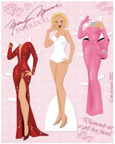 Marilyn Monroe Paper Doll by ~Cor104 on deviantART